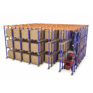 Food No-folding Drive in Style Pallet Racking
